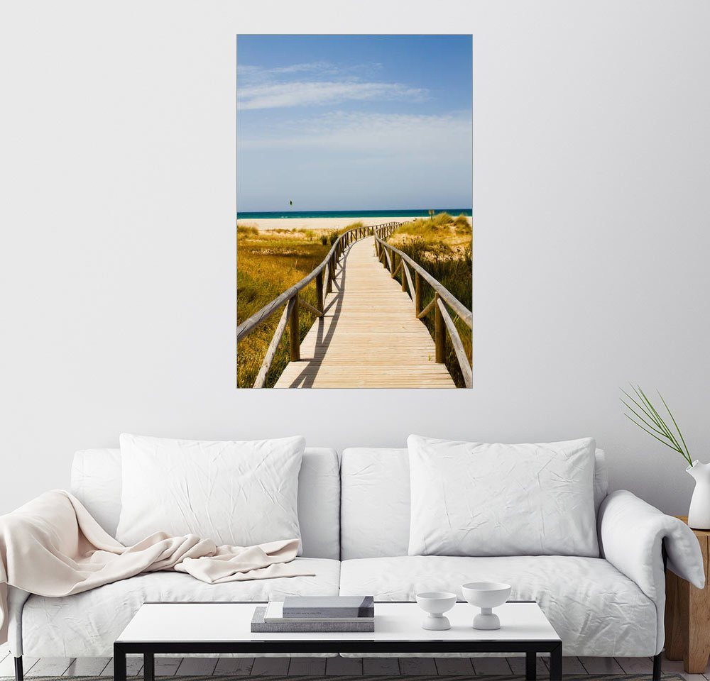 Posterlounge Wandbild - gn fotografie »walk to the beach« | Dekoration > Bilder und Rahmen > Bilder | Holz | Posterlounge