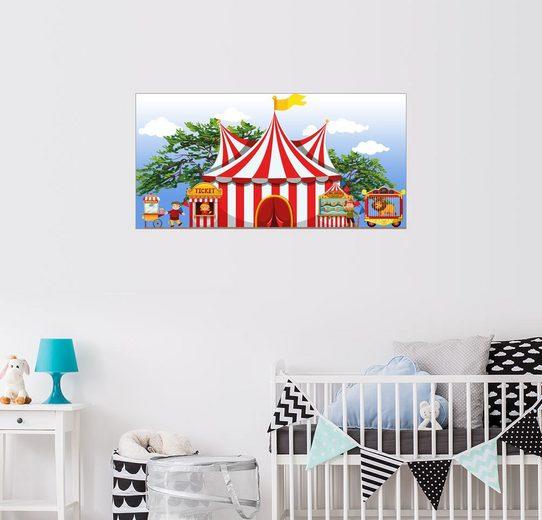 Posterlounge Wandbild - Kidz Collection »Das große Zirkuszelt«
