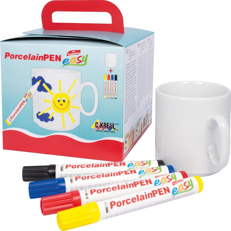 """Kreul Tassenmal-Set """"Porcelain Pen easy"""" 5 Teile"""