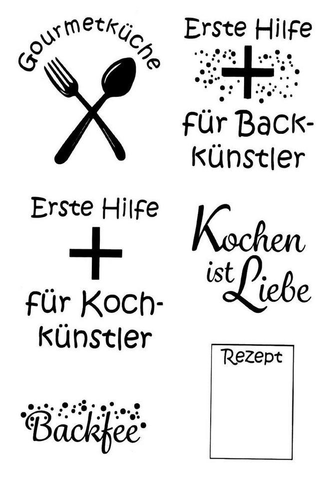 "Clear Stempel-Set ""Kochkünstler"" 6 Motive kaufen"