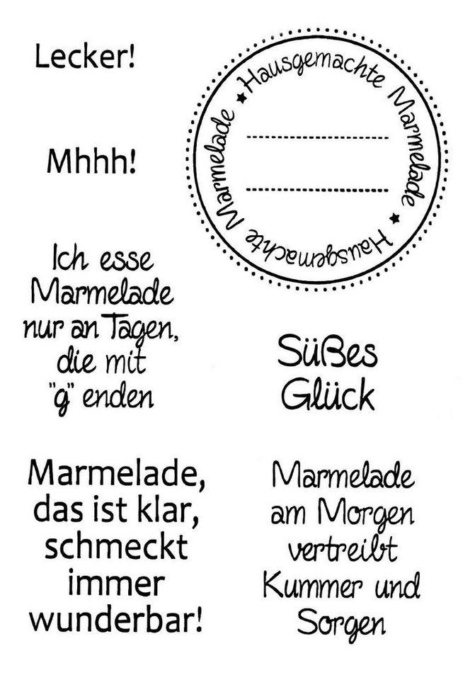 "Clear Stempel-Set ""Marmelade"" 7 Motive kaufen"