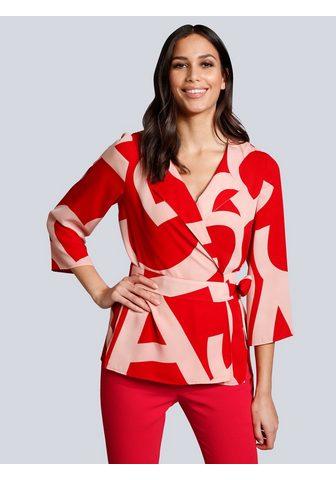 Alba Moda Druckbluse in madingas Colourblocking