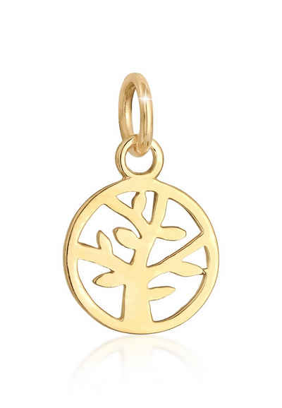 Elli Kettenanhänger »Lebensbaum Tree of Life Symbol Edel 585 Gelbgold«