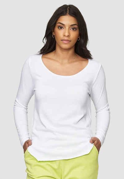 Cotton Candy Langarmshirt »AVA« in schlichtem Design