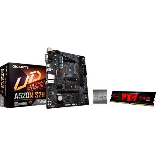 Gigabyte »A520M S2H + AMD Ryzen(TM) 5 3600 + GSkill 8GB 3200« Mainboard