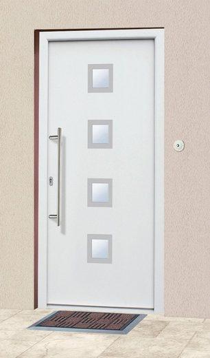 KM MEETH ZAUN GMBH Aluminium-Haustür »A05«, BxH: 98x198 cm, weiß, in 2 Varianten