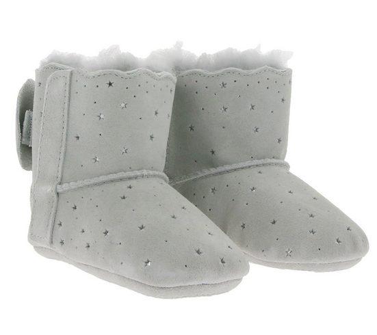 UGG »UGG Australia Jesse Bow II Starry Lite Hauss-Schuhe bezaubernde Baby Echtleder-Schuhe Schühchen Grau« Hausschuh