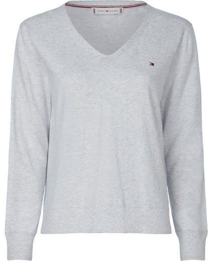 Tommy Hilfiger Curve V-Ausschnitt-Pullover »NOLAA V-NK SWT LS CURVE«