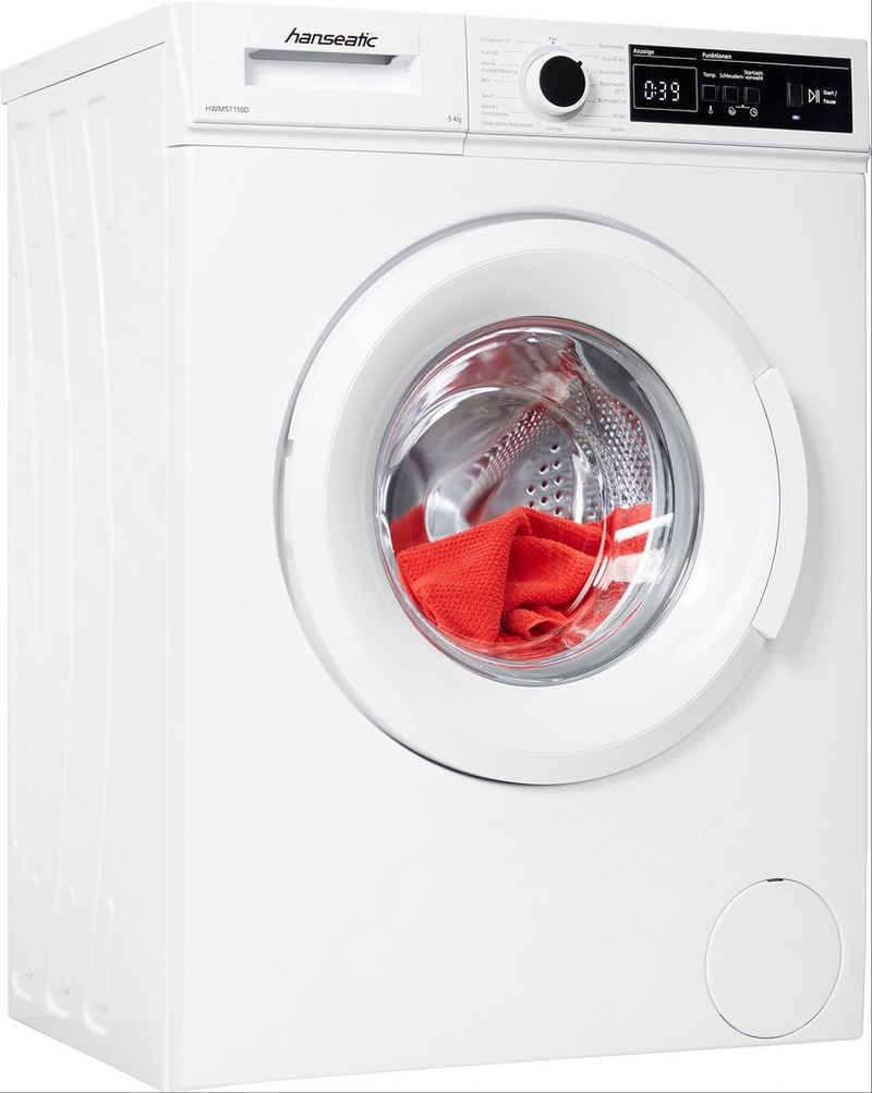Hanseatic Waschmaschine HWM5T110D, 5 kg, 1000 U/min