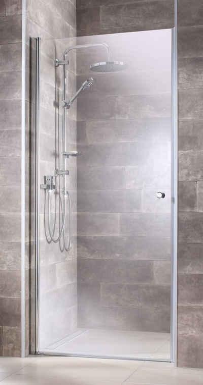 welltime Dusch-Drehtür »Florenz«, 90x190 cm, Einscheibensicherheitsglas, mit Magnetverschluss und Schwalllippe