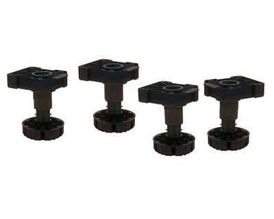 kuechenkonsum Möbelfuß »Sockelhöhenversteller mit Aufnahme zum Anschrauben«, (Satz, 4-St), 4x Stellfuß 100 mm verstellbar 90-118 mm