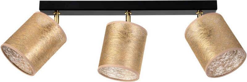 Leonique Deckenleuchte »DOROTHE«, Hochwertige Schirme aus Stoff in Goldfarben, flexibel verstellbar, passende LM E27/exklusive, Made in Europe