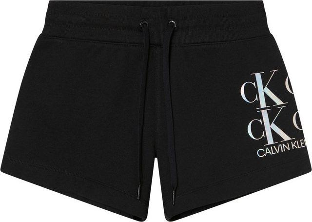 Hosen - Calvin Klein Jeans Sweatshorts »SHINE LOGO KNIT SHORT« mit großem CK Logo Schriftzug auf dem linken Bein ›  - Onlineshop OTTO
