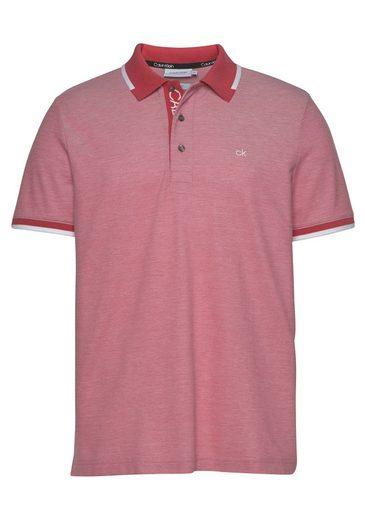 Calvin Klein Poloshirt »2-TONE OXFORD PIQUE POLO« Kontrastdetails am Kragen und Ärmelabschluss