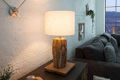 riess-ambiente Tischleuchte »ROOTS 70cm beige / natur«, Tischlampe · Massivholz · Maritim · Wohnzimmer · Handarbeit