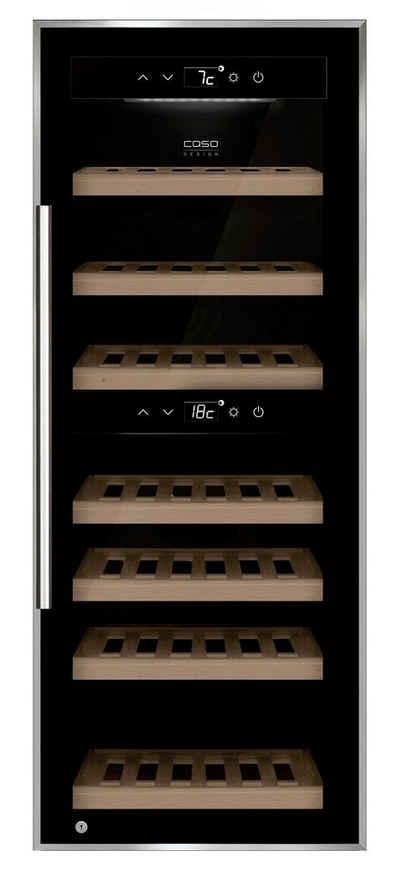 Caso Weinkühlschrank 653 Caso Design WineComfort 38 black, für 38 Standardflaschen á 0,75l