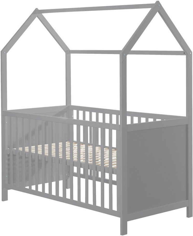 roba® Babybett »Hausbett 70/140, taupe«, FSC®-Holz aus gewissenhaft bewirtschafteten Wäldern