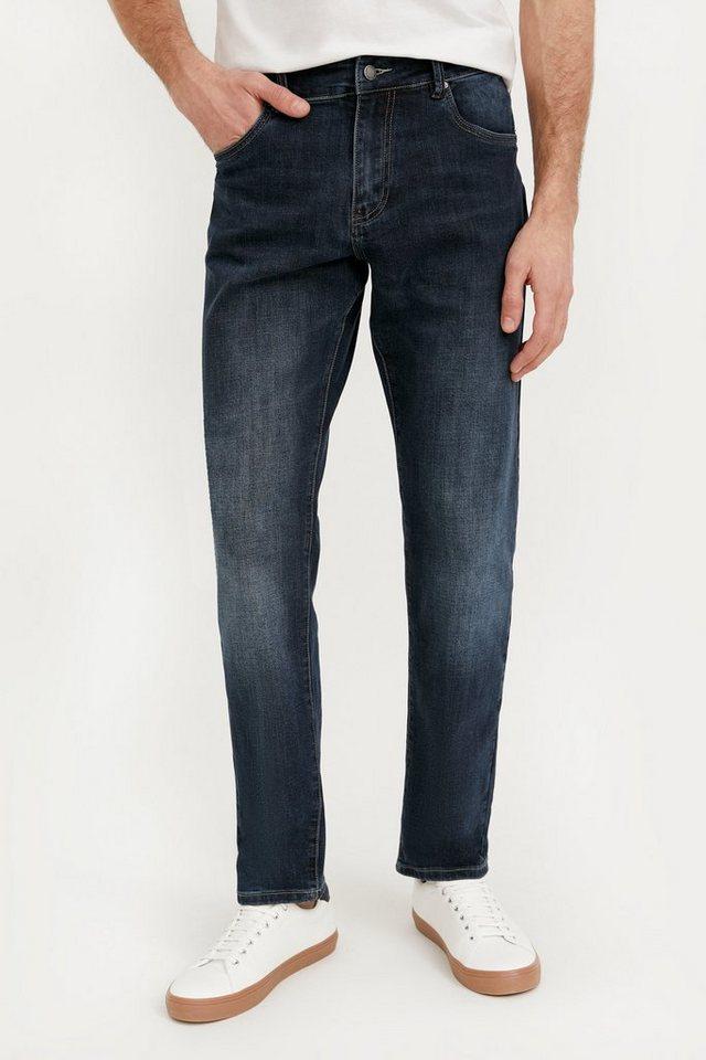finn flare -  Straight-Jeans mit geradem Bein