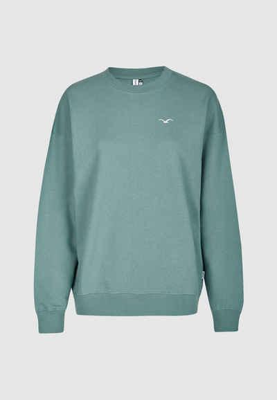 Cleptomanicx Sweatshirt mit Stickerei