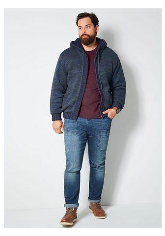 Men Plus by HAPPYsize Megztinis su Kapuze ir Teddyfutter
