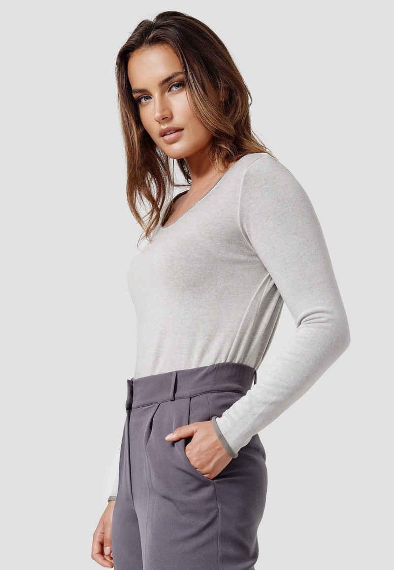 Cotton Candy Langarmshirt »AVA« mit verlängerter Rückenpartie