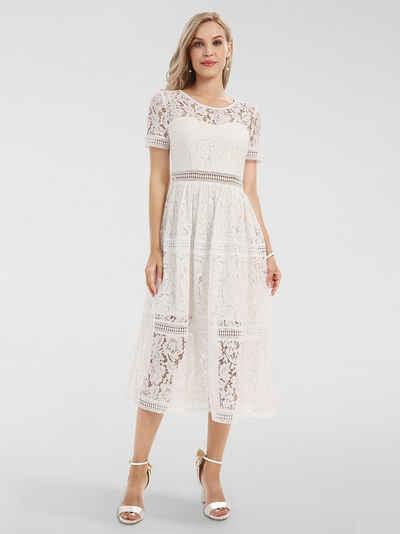 Kurz kleid weiß spitze Kurzes Sommerkleid