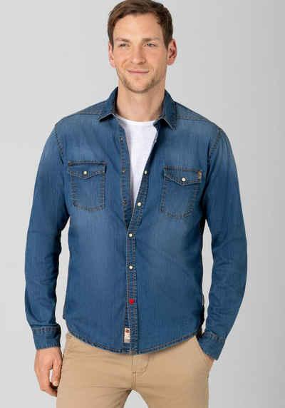 TIMEZONE Jeanshemd »Vintage Denim Shirt«