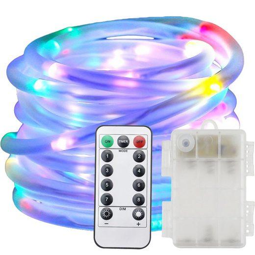 TOPMELON LED Lichtleiste »LED-Streifen«, Lichtschlauch mit Farbwechsel 8 Leuchtmodi, 10M100LED