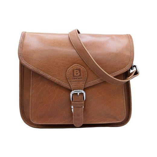 BINOAR Umhängetasche »Leder Umhängetasche Layla Damen Schultertasche Handtasche Vintage BINOAR«