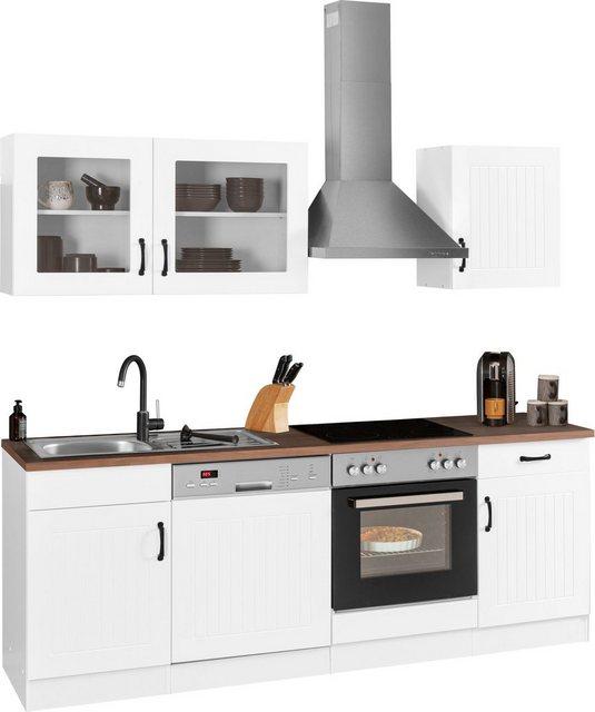 Einbauküchen - HELD MÖBEL Küchenzeile »Athen«, mit E Geräten, Breite 220 cm  - Onlineshop OTTO