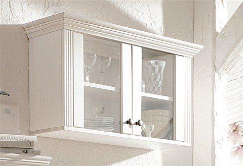 Hängevitrine, Home affaire, Breite 88 cm, Höhe 45 cm in weiß lackiert