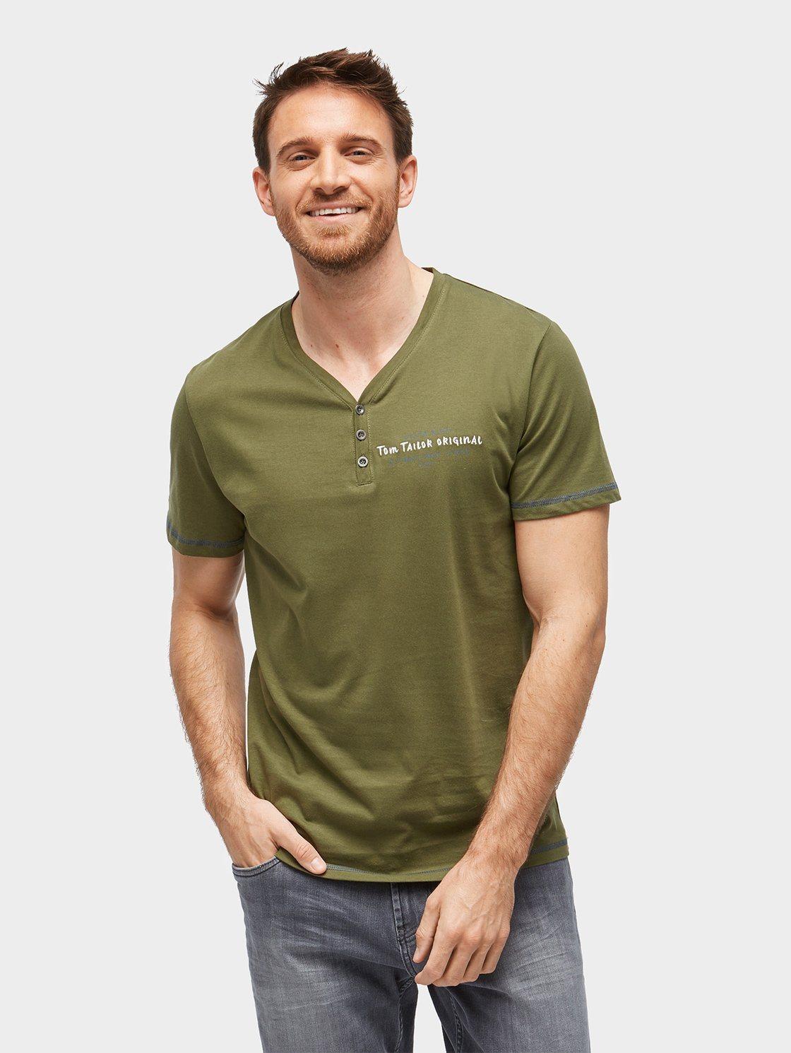 TOM TAILOR T-Shirt »T-Shirt mit Schrift-Stickerei« | Bekleidung > Shirts > Sonstige Shirts | TOM TAILOR