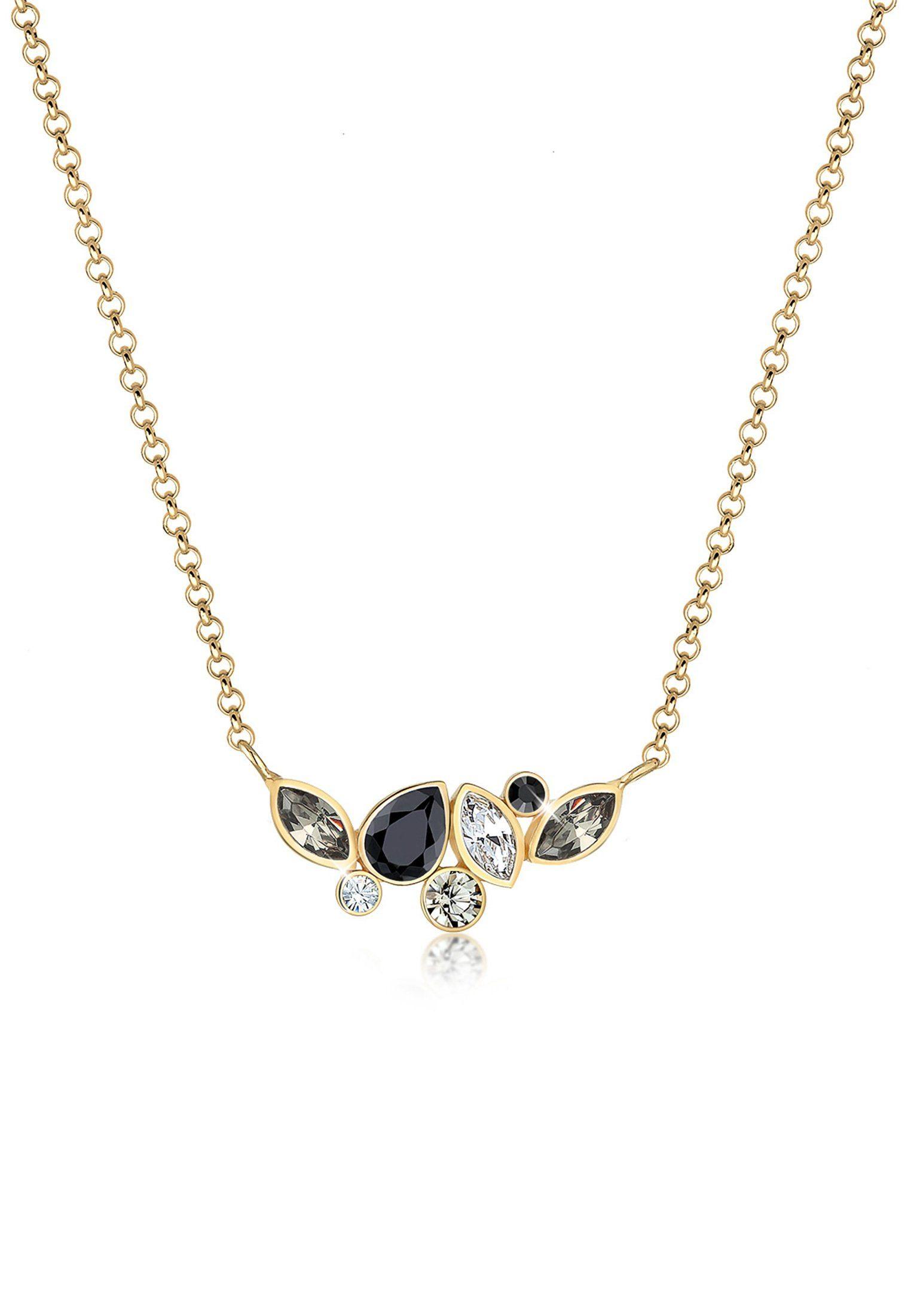 Elli Collierkettchen »Collier Multicolor Swarovski® Kristalle 925 Silber«