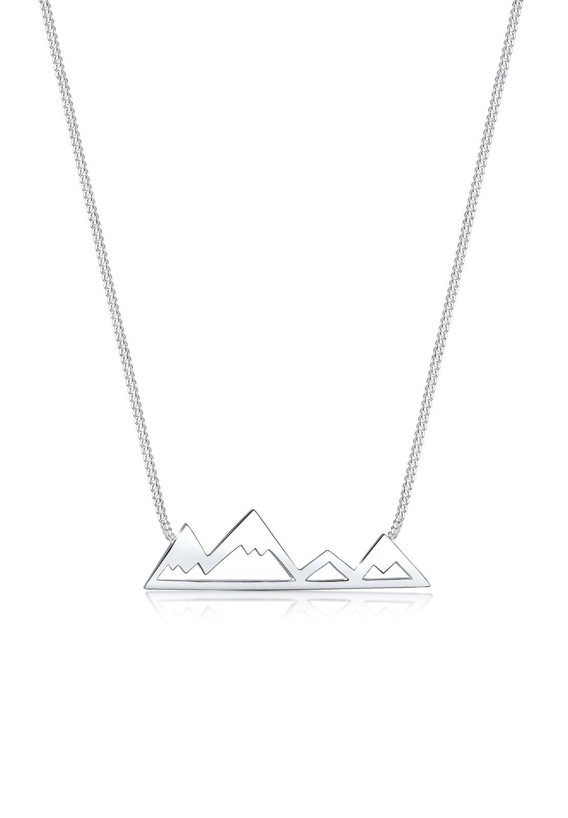 Elli Halskette »Berge Mountain Reise Cut-Out 925 Silber«