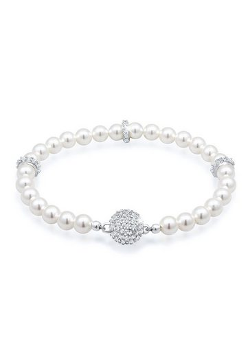 Elli Perlenarmband »Kugel Magnet Perle Swarovski® Kristalle 925 Silber«