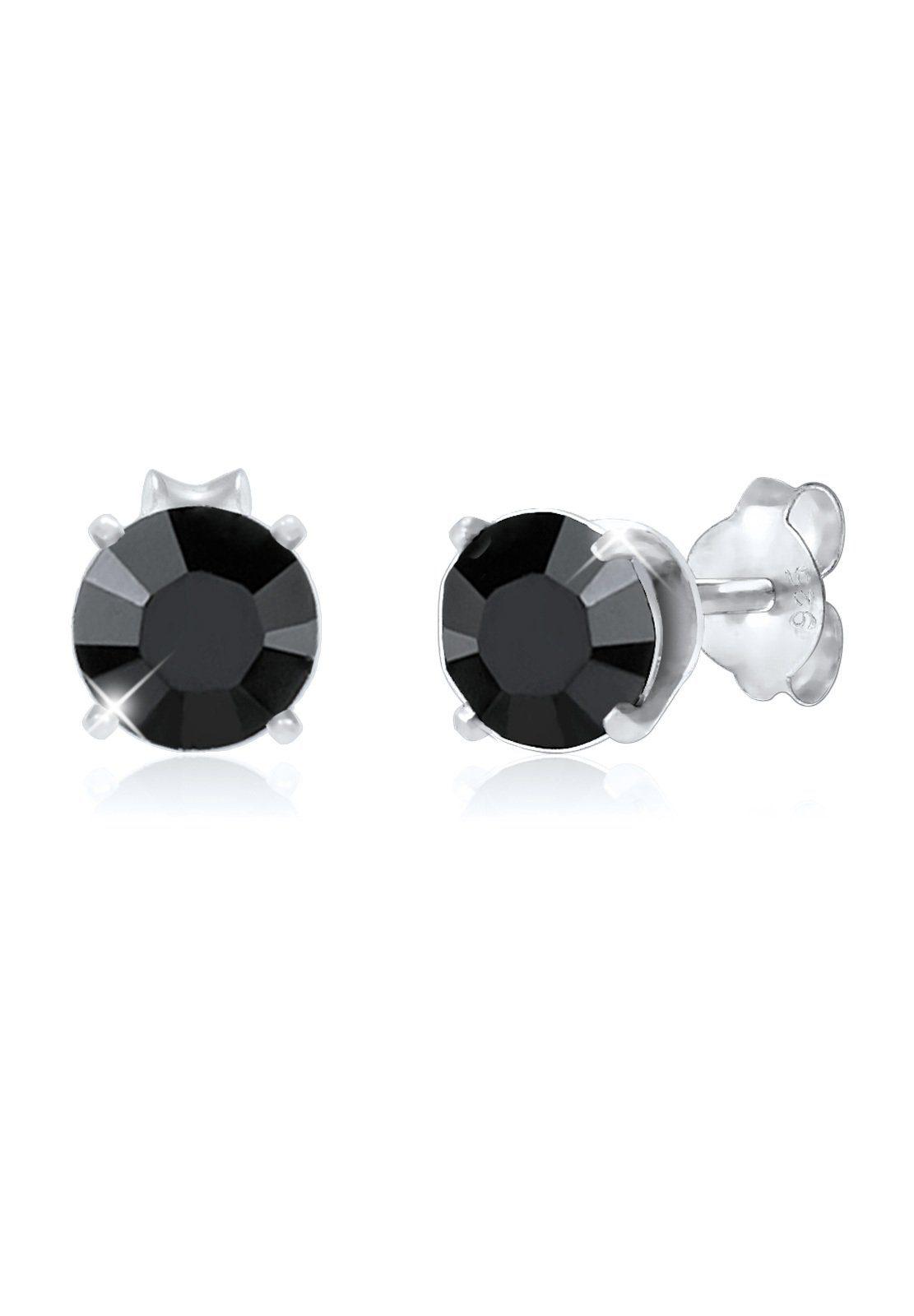 Paulo Fanello Paar Ohrstecker »Basic Stecker Geo Swarovski® Kristalle 925 Silber«