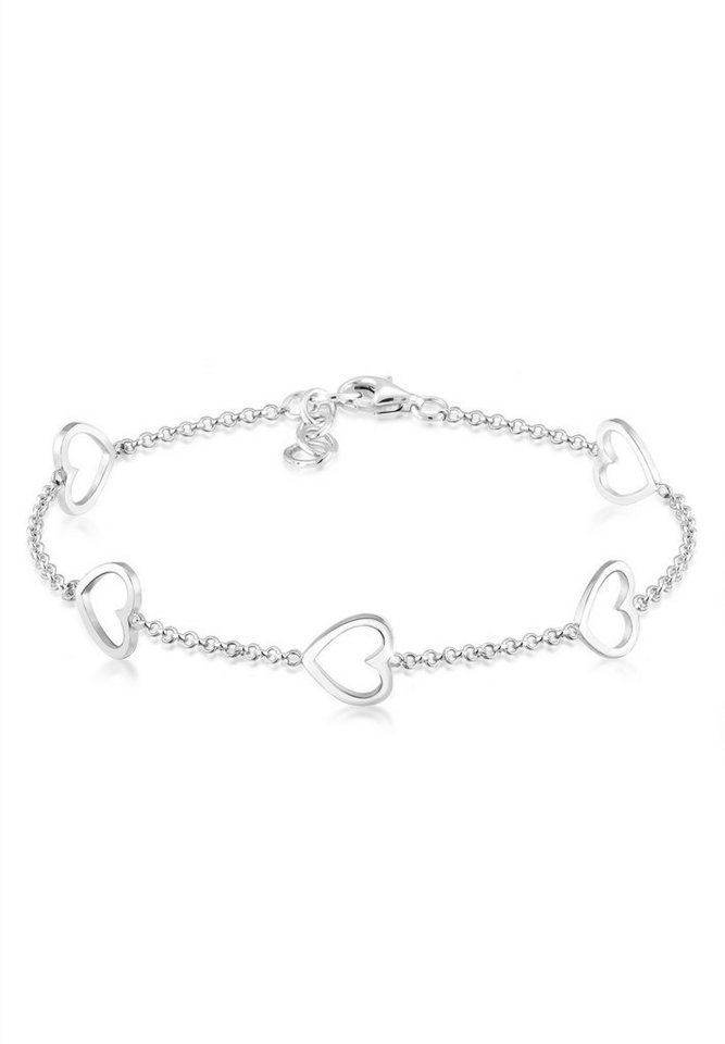 Elli Armband »Herz Liebe Cut-Out Basic Trend Romantik 925 Silber« | Schmuck > Armbänder > Silberarmbänder | Elli