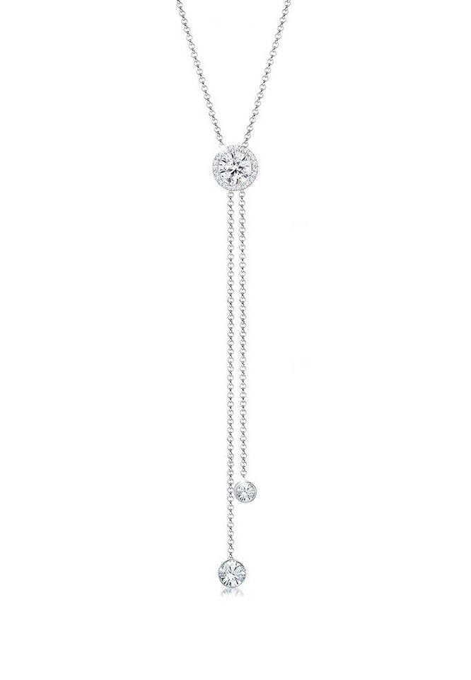 ba0e5bf17718 Elli Collierkettchen »Y-Kette Kreis Geo Swarovski® Kristalle 925 Silber«