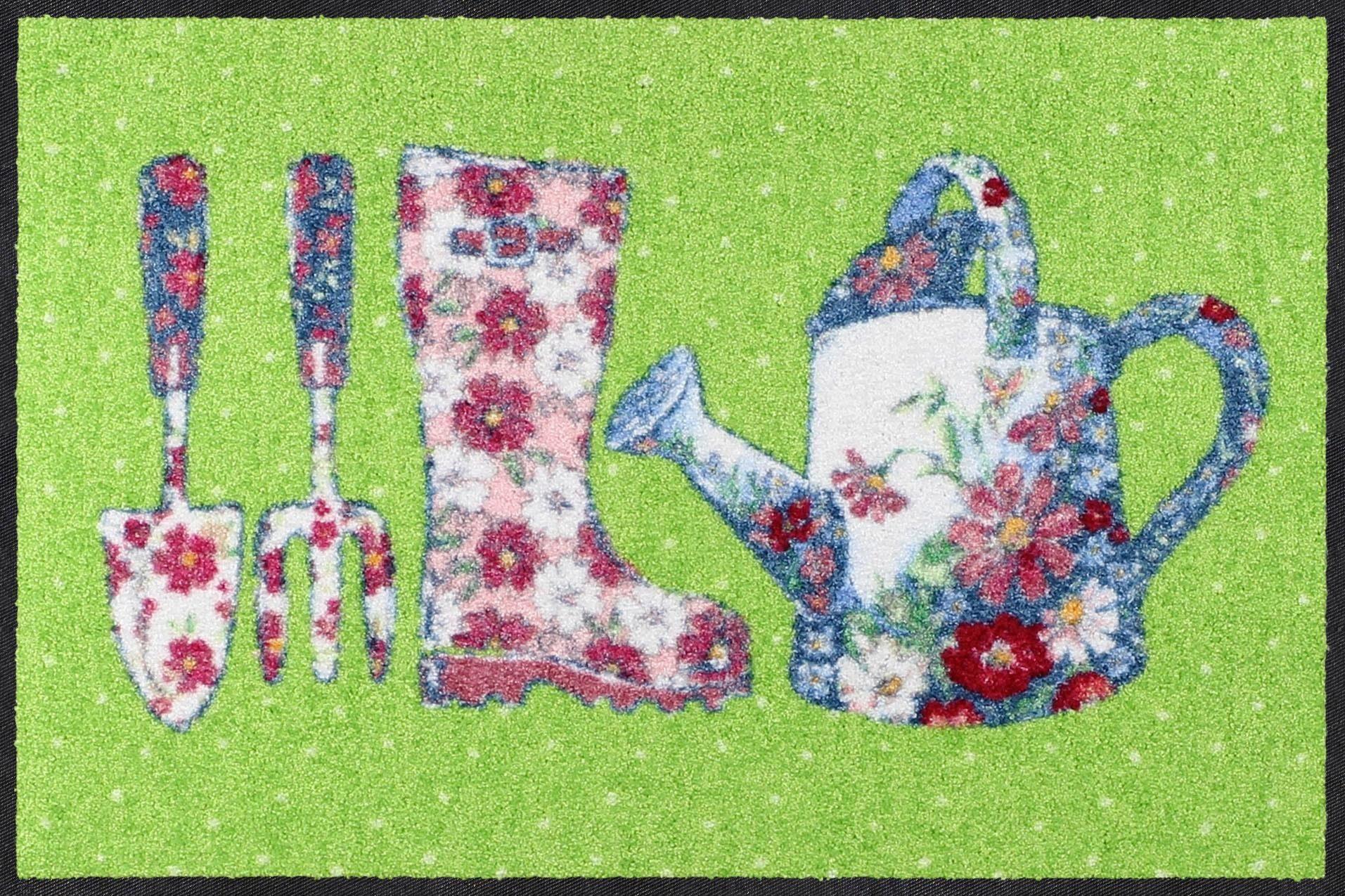 Fußmatte »Gardening Green«, Salonloewe, rechteckig, Höhe 7 mm