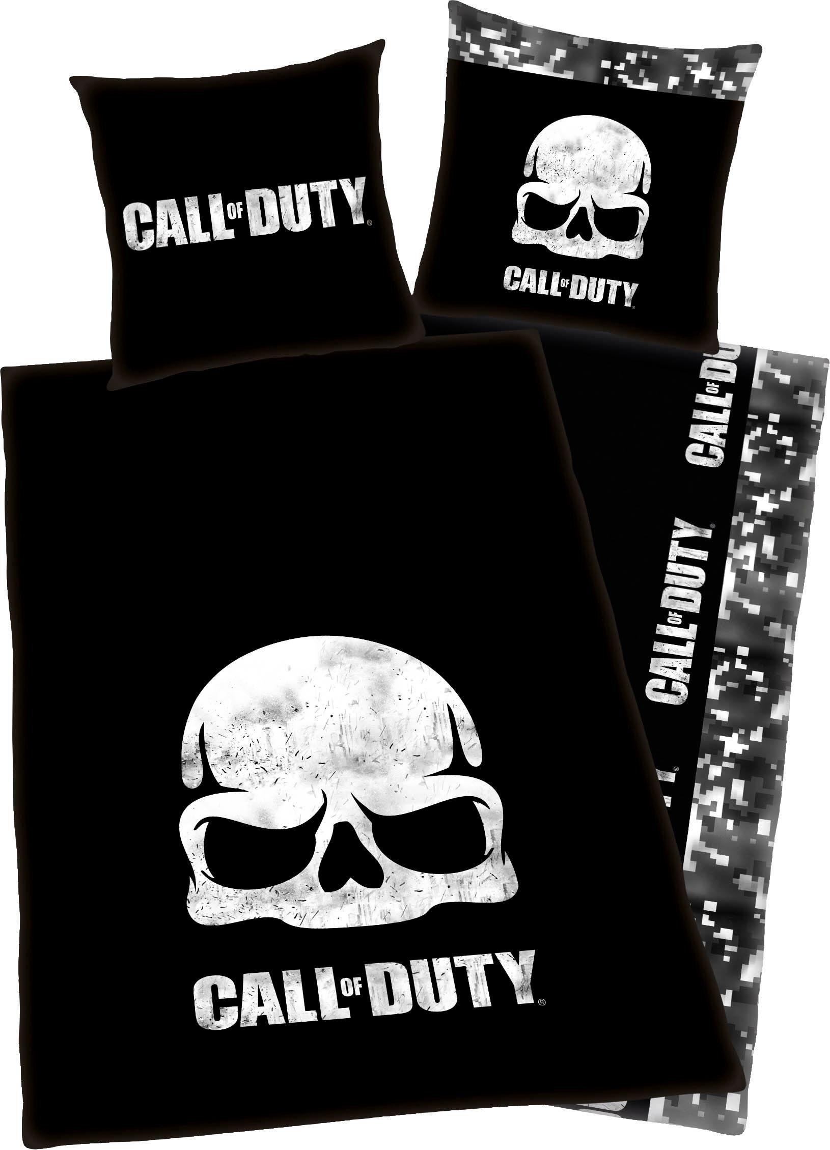 Jugendbettwäsche »Call of Duty«, mit Schriftzug
