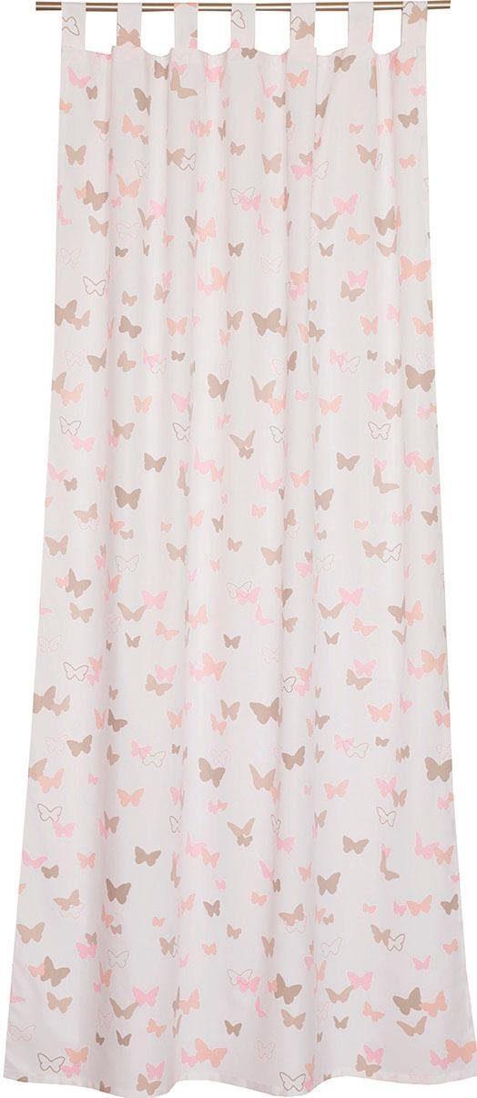 Vorhang »E-Sweetbutterfly«, Esprit, Schlaufen (1 Stück), bedruckt mit bunten Schmetterlingen