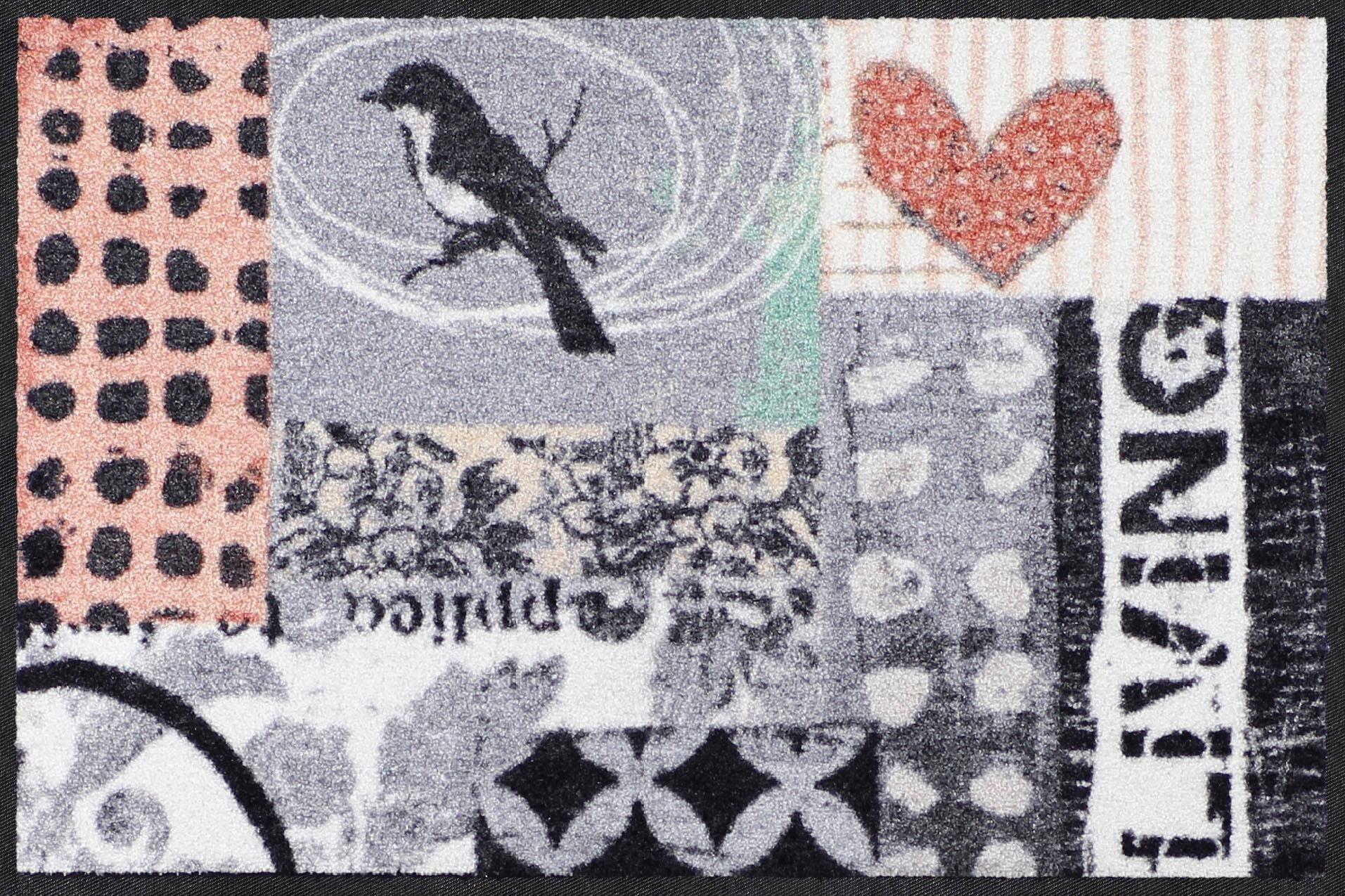 Fußmatte »Annas Vogel«, Salonloewe, rechteckig, Höhe 7 mm