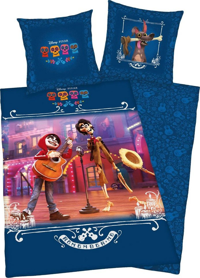 Kinderbettwäsche »Disney´s Coco«, Walt Disney, mit Disneys´s Coco Motiv   Kinderzimmer > Textilien für Kinder > Kinderbettwäsche   Blau   Walt Disney