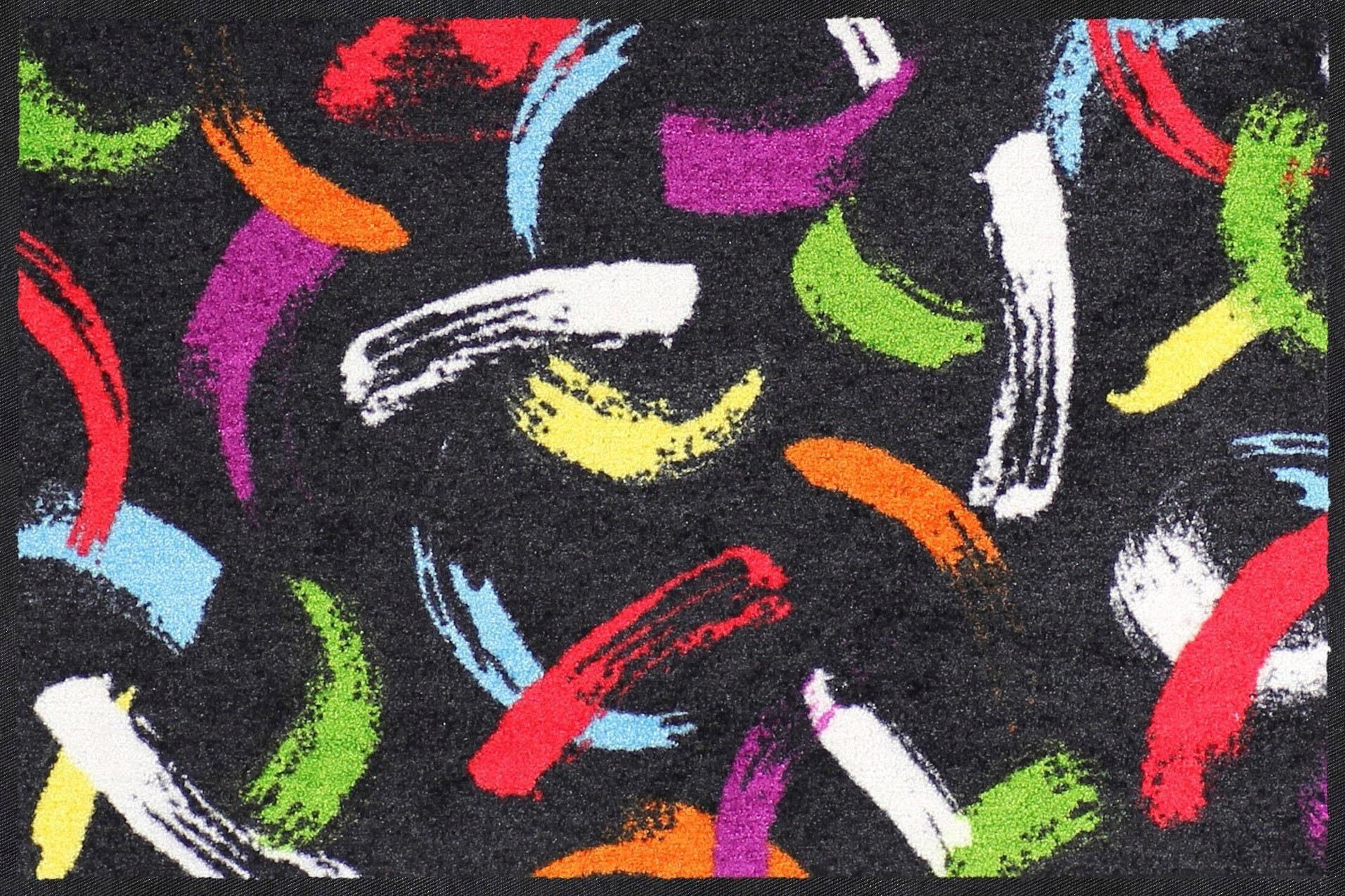 Fußmatte »Brush Strokes«, Salonloewe, rechteckig, Höhe 7 mm