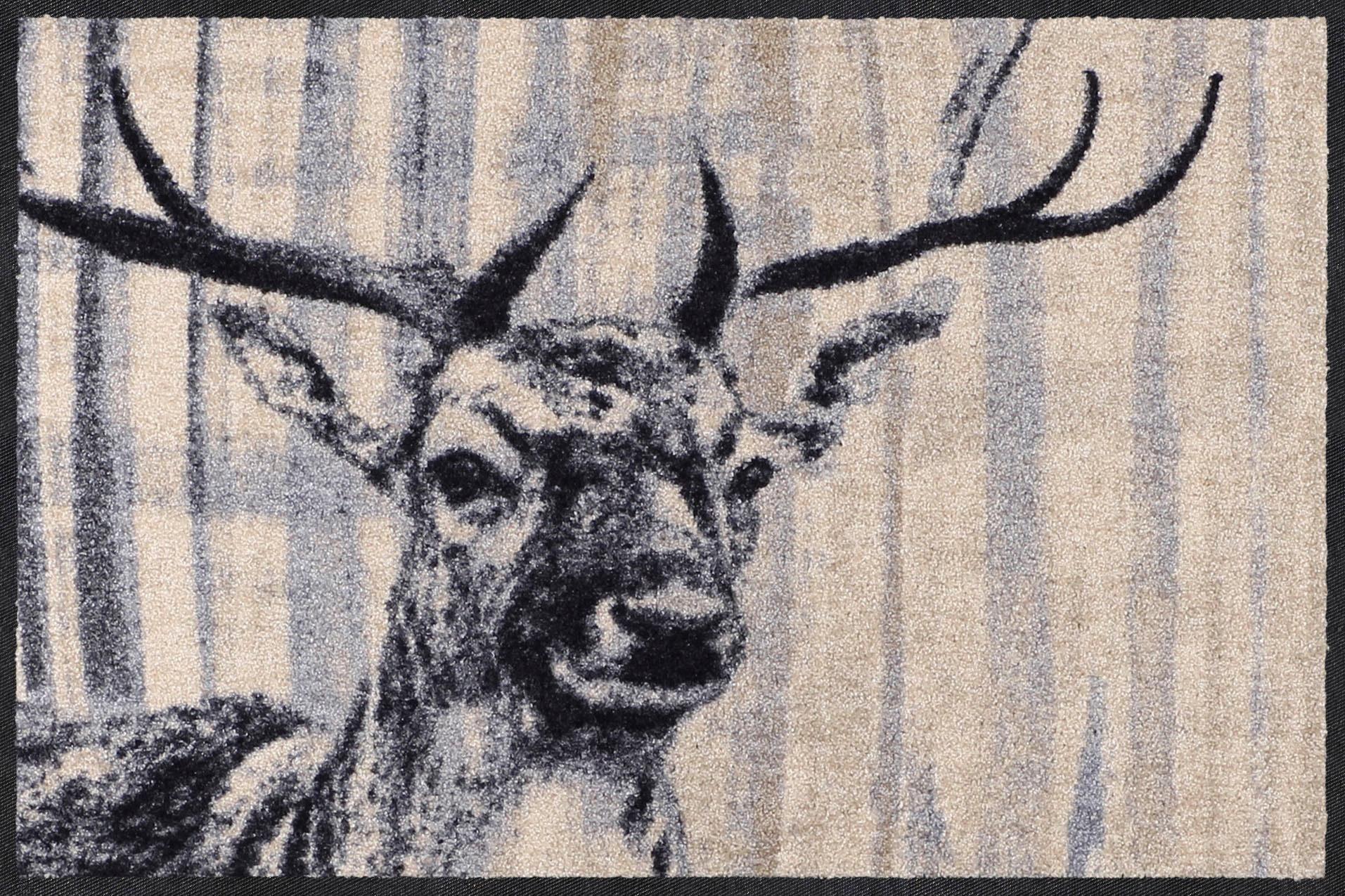 Fußmatte »Natural Deer«, Salonloewe, rechteckig, Höhe 7 mm