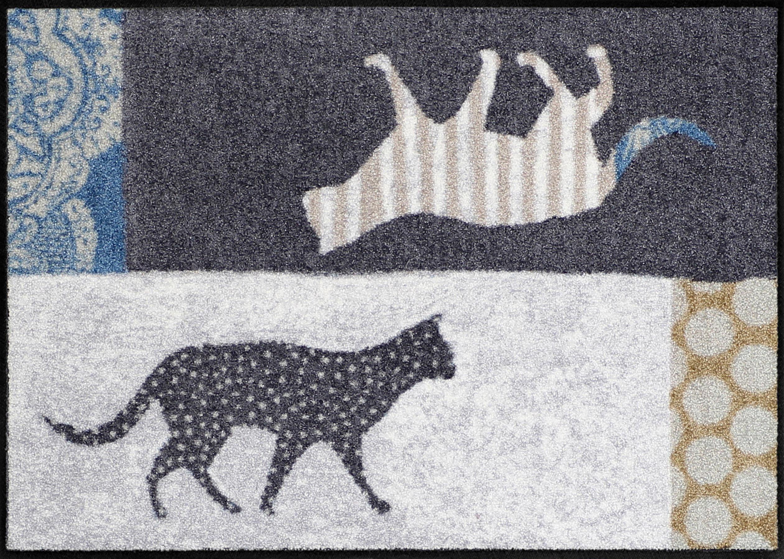 Fußmatte »Cats in Out«, Salonloewe, rechteckig, Höhe 7 mm