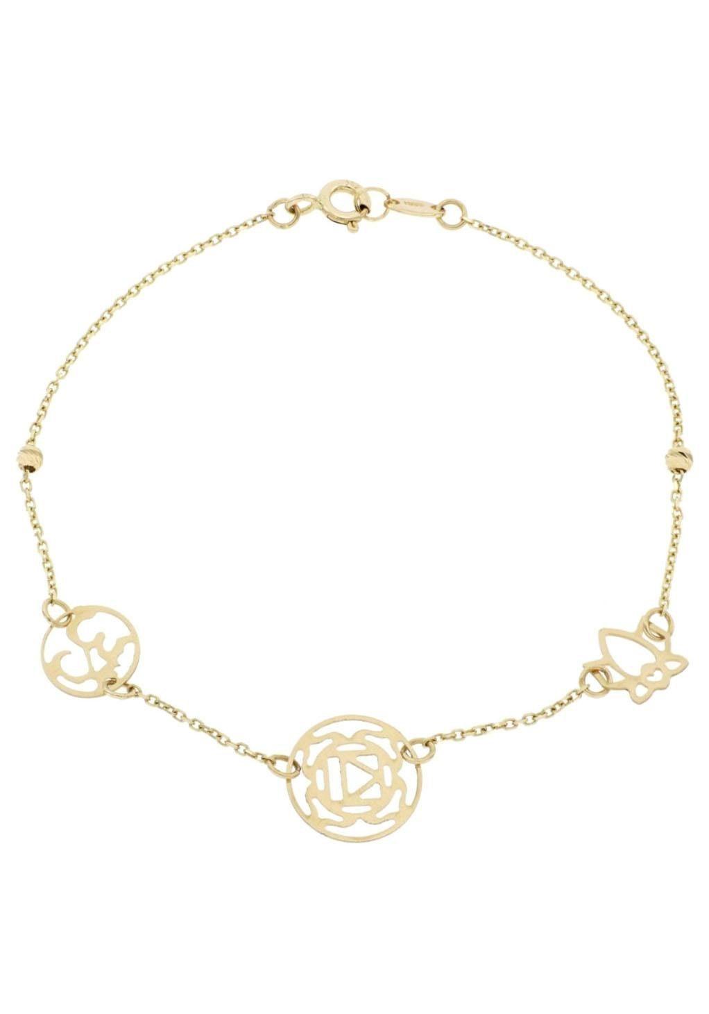 Firetti Goldarmband »Lotusblüte, Chakra, chinesisches Zeichen«