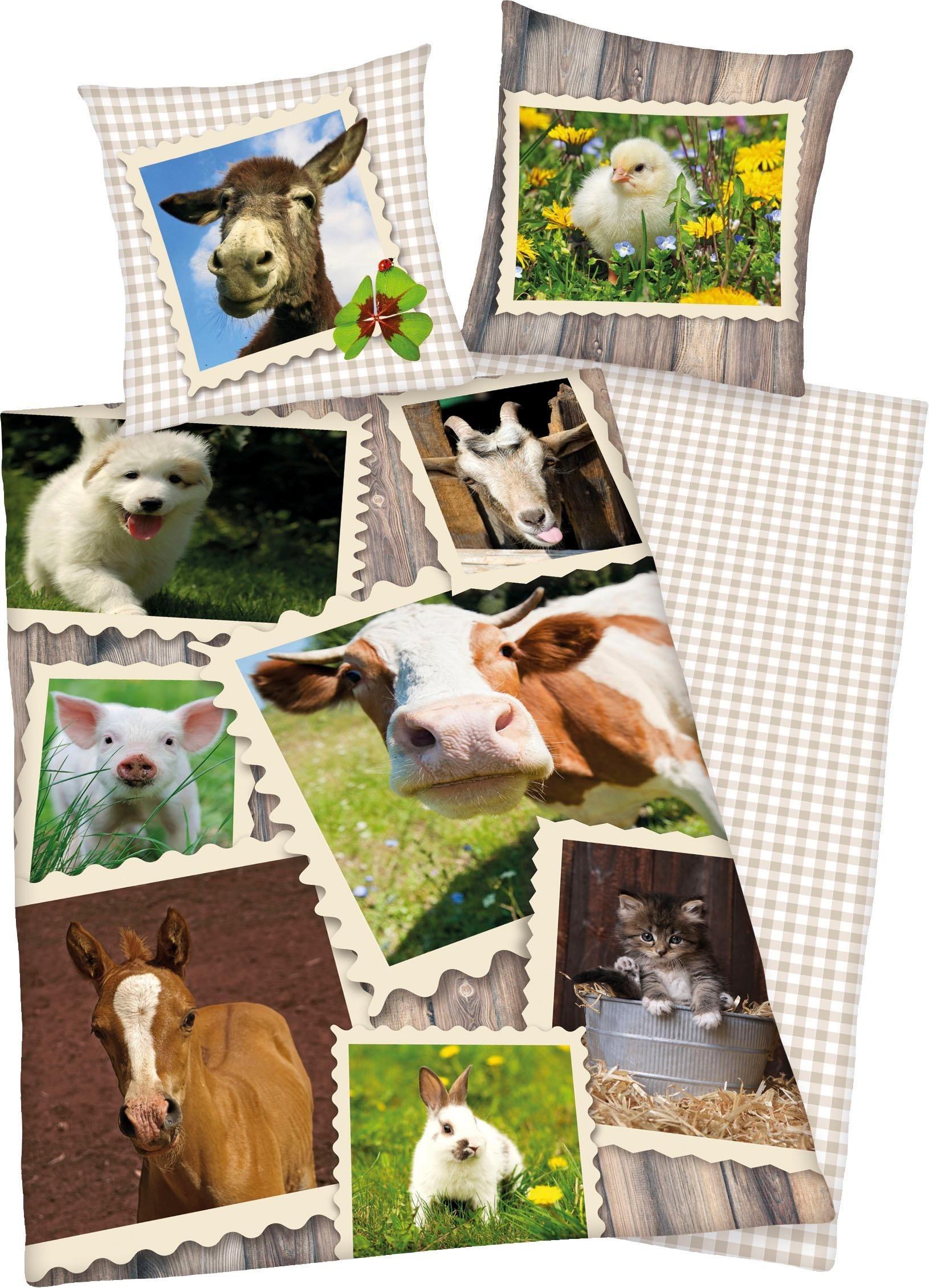 Kinderbettwäsche »Bauernhof«, Young Collection, mit verschiedenen Tierbildern | Kinderzimmer > Textilien für Kinder > Kinderbettwäsche | Young Collection