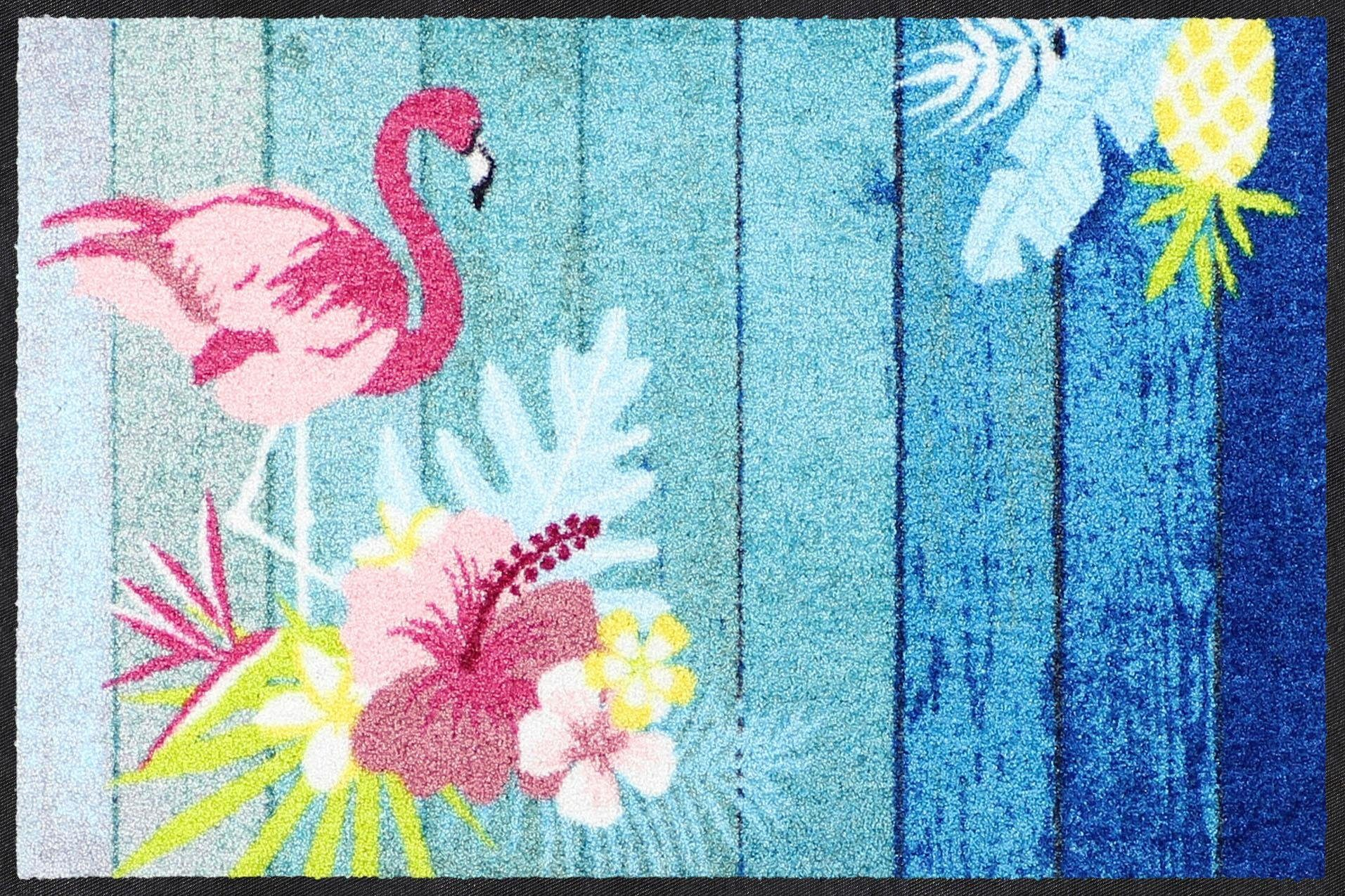 Fußmatte »Flamingo Beach«, Salonloewe, rechteckig, Höhe 7 mm