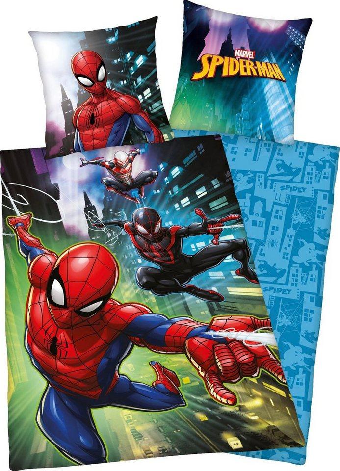 Kinderbettwäsche »Spiderman«, Marvel, mit Spiderman Motiv   Kinderzimmer > Textilien für Kinder > Kinderbettwäsche   Bunt   Marvel